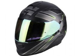 Casco Scorpion Exo-510 Air Route Negro Mate / Verde