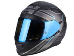 Casco Scorpion Exo-510 Air Route Negro Mate / Azúl