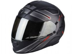 Casco Scorpion Exo-510 Air Route Negro Mate / Rojo
