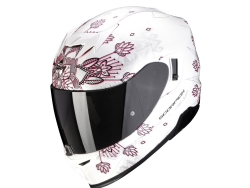 Casco Scorpion Exo-520 Air Tina Blanco Perla / Plata