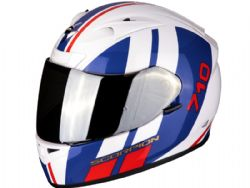 Casco Scorpion Exo-710 Air Gt Blanco / Azul / Rojo