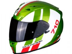Casco Scorpion Exo-710 Air Gt Verde / Blanco / Rojo
