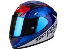 Casco Scorpion Exo-710 Air Mugello Azul / Blanco