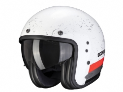 Casco Scorpion Exo Belfast Shift Blanco / Rojo Neon