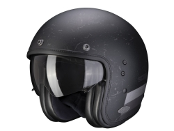 Casco Scorpion Exo Belfast Shift Negro Mate / Plata