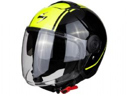 Casco Scorpion Exo-City Avenue Negro / Amarillo Neon