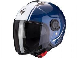 Casco Scorpion Exo-City Avenue Azul Oscuro / Blanco