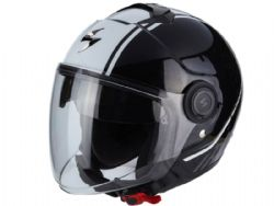 Casco Scorpion Exo-City Avenue Negro / Blanco