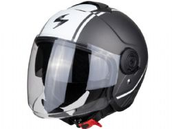 Casco Scorpion Exo-City Avenue Plata Mate / Blanco