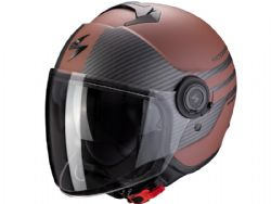 Casco Scorpion Exo-City Moda Marrón Mate / Negro