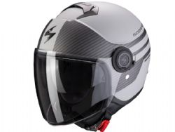 Casco Scorpion Exo-City Moda Plata Mate / Negro