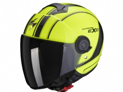 Casco Scorpion Exo-City Scoot Amarillo Neon / Negro