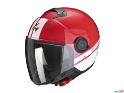 Casco Scorpion Exo-City Strada Rojo / Blanco / Blanco