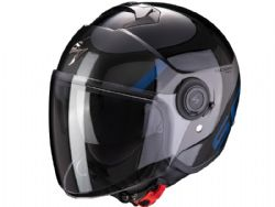 Casco Scorpion Exo-City Sympa Negro / Plata