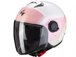 Casco Scorpion Exo-City Sympa Blanco / Coral / Verde
