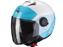 Casco Scorpion Exo-City Sympa Blanco / Azul Claro