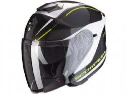 Casco Scorpion Exo-S1 Shadow Blanco Perla / Amarillo