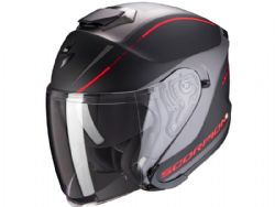 Casco Scorpion Exo-S1 Shadow Negro Mate / Rojo