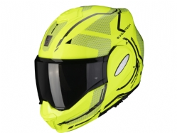 Casco Scorpion Exo-Tech Square Amarillo Neon / Negro
