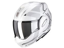 Casco Scorpion Exo-Tech Square Blanco Perla / Plata