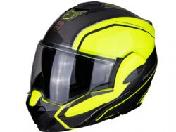 Casco Scorpion Exo-Tech Time Off Amarillo / Plata