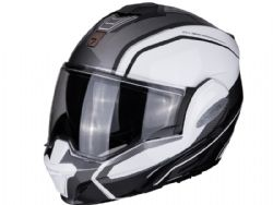 Casco Scorpion Exo-Tech Time Off Blanco / Plata