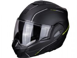 Casco Scorpion Exo-Tech Time Off Negro Mate / Amarillo