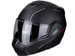 Casco Scorpion Exo-Tech Time Off Negro Mate / Rojo