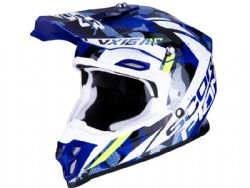 Casco Scorpion Vx-16 Air Waka Negro / Blanco / Azul