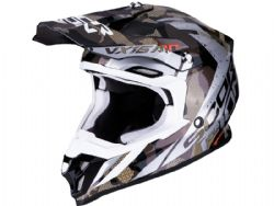 Casco Scorpion Vx-16 Air Waka Negro / Plata