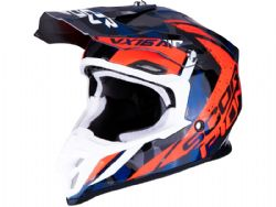 Casco Scorpion Vx-16 Air Waka Plata / Rojo / Azul