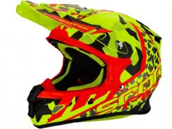 Casco Scorpion Vx-21 Air Furio Amarillo / Negro / Rojo