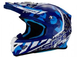 Casco Scorpion Vx-21 Air Furio Azul / Blanco