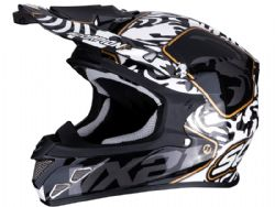 Casco Scorpion Vx-21 Air Gnarly Negro / Blanco