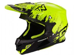 Casco Scorpion Vx-21 Air Mudirt Negro / Amarillo