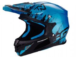 Casco Scorpion Vx-21 Air Mudirt Negro / Azul
