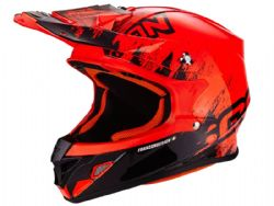 Casco Scorpion Vx-21 Air Mudirt Negro / Rojo
