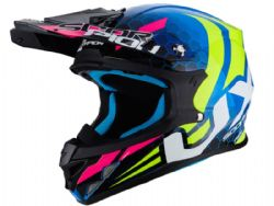 Casco Scorpion Vx-21 Air Xagon Azul / Amarillo