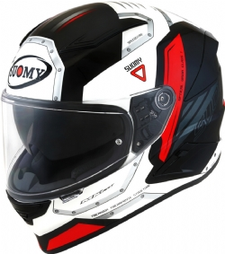 Casco Suomy Speedstar Airplane Blanco / Rojo