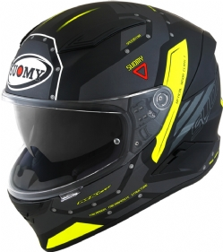 Casco Suomy Speedstar Airplane Gris Mate / Amarillo