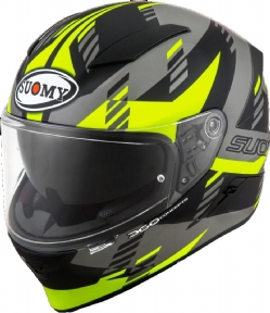 Casco Suomy Speedstar Flow Amarillo Fluo Mate / Gris