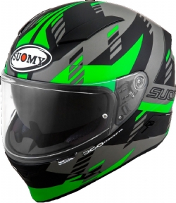 Casco Suomy Speedstar Flow Verde Fluo / Negro