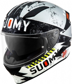 Casco Suomy Speedstar Propeller Plata Mate / Negro
