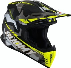Casco Suomy X-Wing Camouflager Amarillo Mate