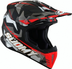 Casco Suomy X-Wing Camouflager Rojo Mate