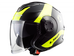 Casco Ls2 OF570 Verso Technik Negro / Amarillo
