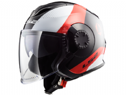 Casco Ls2 OF570 Verso Technik Blanco / Negro / Rojo