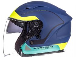 Casco Mt Avenue Crossroad Matt Blue-Fluor-Yellow-Green