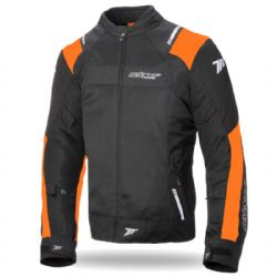Chaqueta Seventy Degrees SD-JR52 Verano Racing Negra / Naranja