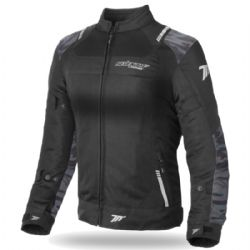 Chaqueta Seventy Degrees SD-JR54 Woman Verano Racing Negra / Camuflaje